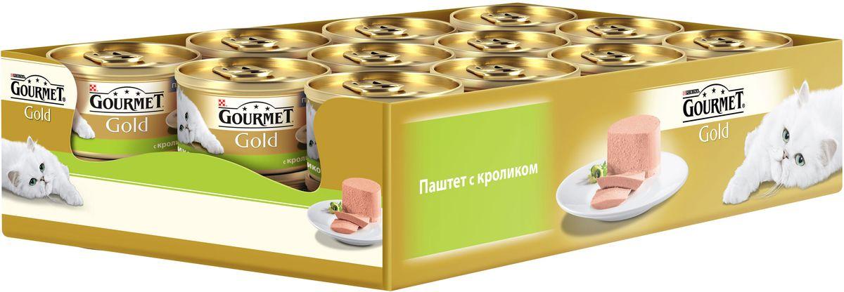 Консервы Gourmet для взрослых кошек, с кроликом, 85 г, 24 шт0120710GOURMET Gold®– это золотая коллекция вкусов и текстур, такие как террин по-французски, паштет, нежные биточки и другие роскошные блюда, перед которыми не устоит даже самая взыскательная кошка. мясо и мясные субпродукты (кролик) минеральные вещества, продукты переработки злаков, сахара, минеральные вещества, витамины. МЕ/кг: витамин A: 1640 ; витамин D3: 255.мг/кг: железо: 11,4; йод:0,28; медь: 1,0; марганец: 2,2; цинк: 11,3.С консервантами.