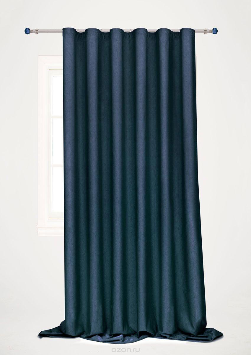 Штора готовая для гостиной Garden, на ленте, цвет: синий, 200 х 260 см. С 536097 V102PANTERA SPX-2RSГотовая портьерная штора для гостиной Garden выполнена из 100% полиэстера. Богатая текстура материала и изысканная цветовая гамма привлекут к себе внимание и органично впишутся в интерьер помещения. Изделие оснащено шторной лентой для красивой сборки. Штора Garden великолепно украсит любое окно.