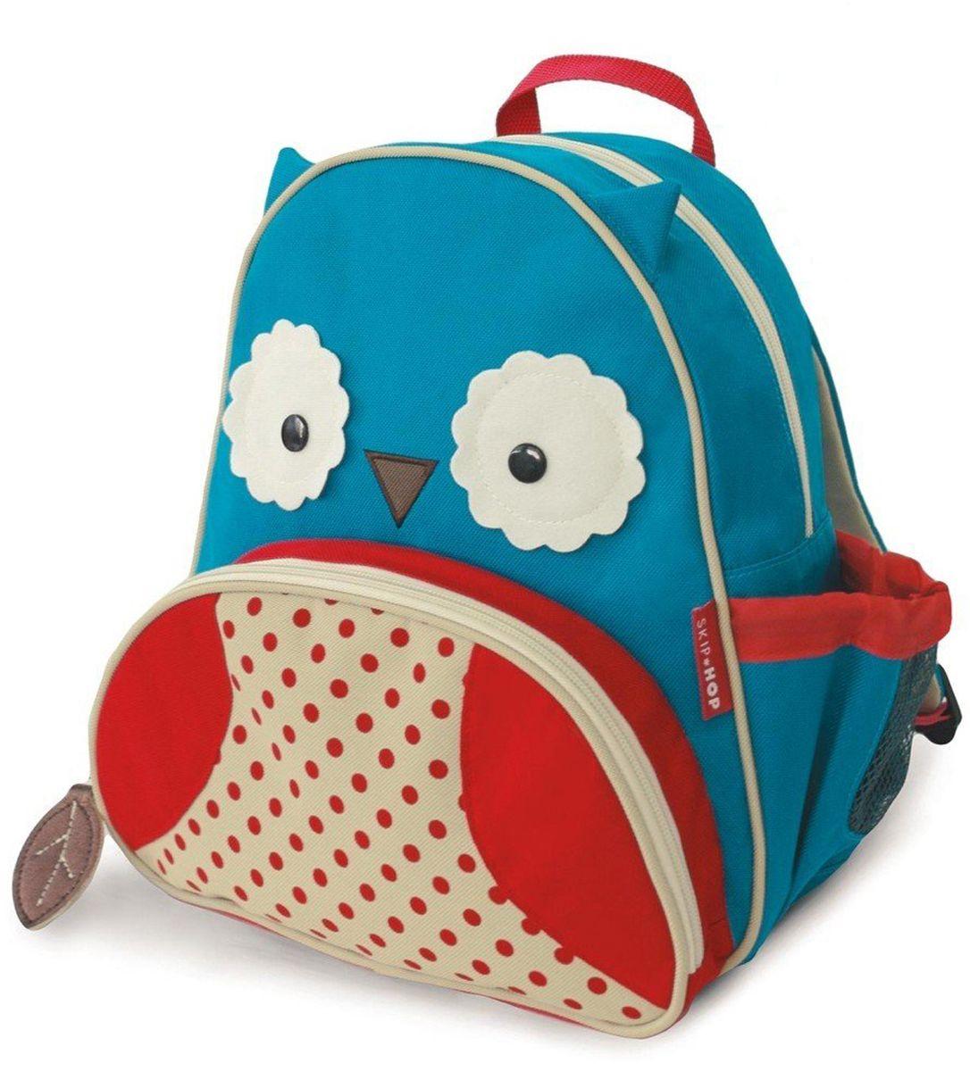 Skip Hop Рюкзак дошкольный СоваSH 210204Дошкольный рюкзак Skip Hop каждый день будет радовать вашего малыша, вызывать улыбки у прохожих и зависть у сверстников. С ним можно ходить в детский сад, на прогулку, в гости к бабушке или ездить на экскурсии.Рюкзак имеет одно основное отделение на застежке-молнии, в которое легко поместятся книжка, альбом для рисования, краски, фломастеры, любимая игрушка и контейнер с едой, а кармашек сбоку предназначен специально для бутылочки с водой. Передний карман на молнии предназначен для мелких вещей.Рюкзак оснащен ручкой для переноски в руках и лямками регулируемой длины.
