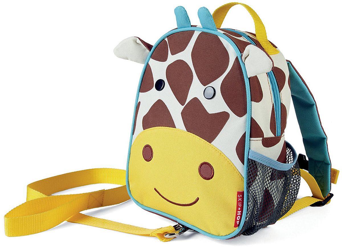 Skip Hop Рюкзак дошкольный Жираф с поводкомSH 212258Дошкольный рюкзак Skip Hop, выполненный в виде жирафа, поможет сделать первые шаги, подстрахует малыша в ответственный момент, огородит родителей от лишних волнений и беспокойств с помощью поводка для детской безопасности. При необходимости поводок можно отстегнуть.Милая мордашка животного всегда будет поднимать настроение, а вместительный кармашек позволит носить с собой необходимые вещи: пакетик с соком, любимые игрушки и блокноты для рисования.Рюкзак имеет одно отделение на застежке-молнии, в котором находится бирка для имени.
