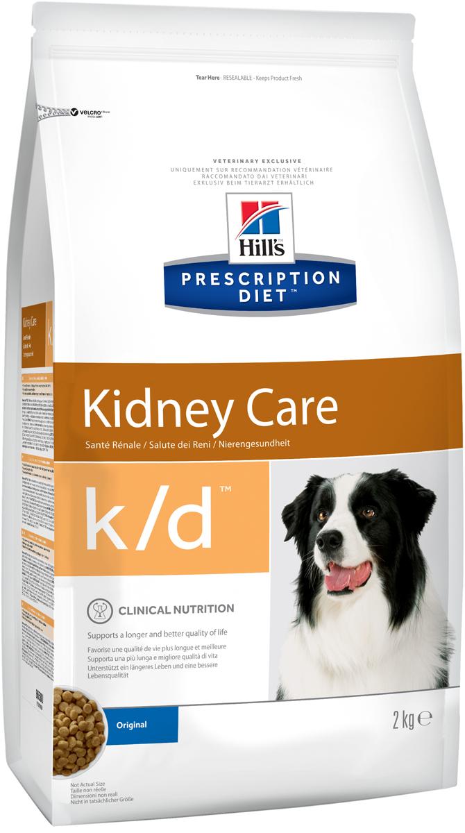 Корм сухой диетический Hills K/D для собак, для лечения заболеваний почек, 2 кг0120710Сухой корм для собак Hills K/D - полноценный диетический рацион для собак для поддержания функции почек при почечной недостаточности. Содержит пониженный уровень фосфора и оптимальный уровень протеинов высокой биологической ценности.Подтверждено клинически - рацион с пониженным содержанием белка и фосфора уменьшает проявление клинических признаков заболеваний почек, увеличивает продолжительность и улучшает качество жизни собаки.- Превосходный вкус понравится вашей собаке.- Супер Антиоксидантная формула помогает сохранить здоровье почек.Рекомендации по кормлению: суточную норму можно разделить на 2 и более кормлений в день. Рекомендуемая продолжительность диетотерапии: до 6 месяцев (от 2 до 4 недель в случае острой почечной недостаточности). Обеспечьте питомца постоянным свободным доступом к свежей воде. Состав: зерновые злаки, масла и жиры, яйцо и его производные, экстракты растительного белка, мясо и пептиды животного происхождения, минералы, производные растительного происхождения, семена.Источники белка: сухое цельное яйцо, мука из кукурузного глютена, гидролизат белка. Анализ: белок 13,4%, жир 18,3%, незаменимые жирные кислоты 3,4%, клетчатка 1,7%, зола 4,4%, кальций 0,70%, фосфор 0,22%, натрий 0,19%, калий 0,72%. На кг: витамин Е 600 мг, витамин С 70 мг, бета-каротин 1,5 мг.Добавки на кг: витамин А 16 665 МЕ, витамин D3 980 МЕ, железо 87 мг, йод 1,4 мг, медь 8,6 мг, марганец 9 мг, цинк 180 мг, селен 0,24, антиоксиданты. Товар сертифицирован.Уважаемые клиенты! Обращаем ваше внимание на возможные изменения в дизайне упаковки. Качественные характеристики товара остаются неизменными. Поставка осуществляется в зависимости от наличия на складе.