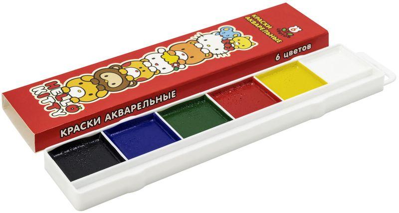 Action! Акварель Hello Kitty 6 цветовFS-36054Изготовлены с использованием натуральных природных компонентов. Легко ложатся на бумагу, без комочков, быстро сохнут. Без кисти. 6 цветов. В картонной коробке
