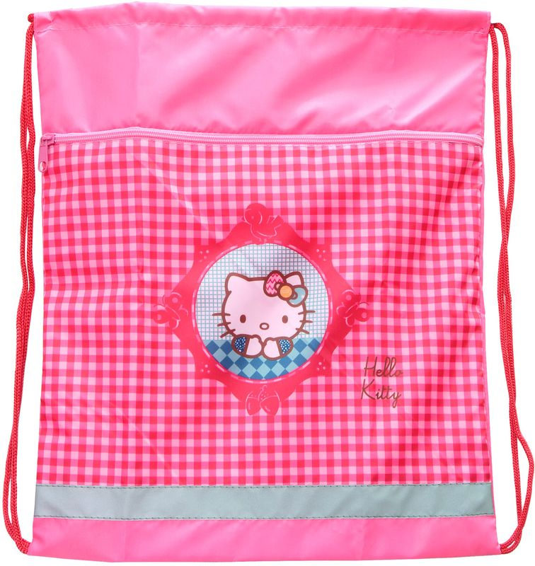 Action! Сумка для сменной обуви Hello Kitty HKO-ASS4301/172523WDНа лицевой стороне большой карман на молнии. Размер 34х43 см
