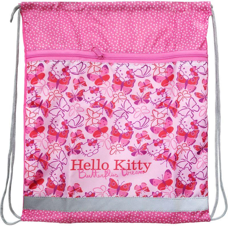 Action! Сумка для сменной обуви Hello Kitty HKO-ASS4301/2225382Сумка Action! Hello Kitty имеет лицензионный дизайн, ее удобно использовать как для хранения, так и для переноски сменной обуви. Она выполнена из водонепроницаемой ткани. На лицевой стороне большой карман на молнии. Сумка затягивается сверху при помощи текстильных шнурков. Шнурки фиксируются в нижней части сумки, благодаря чему ее можно носить за спиной как рюкзак.