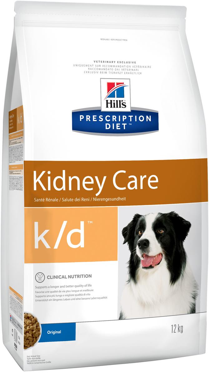Корм сухой диетический Hills K/D для собак, для лечения заболеваний почек, 12 кг0120710Сухой корм для собак Hills K/D - полноценный диетический рацион для собак для поддержания функции почек при почечной недостаточности. Содержит пониженный уровень фосфора и оптимальный уровень протеинов высокой биологической ценности.Подтверждено клинически - рацион с пониженным содержанием белка и фосфора уменьшает проявление клинических признаков заболеваний почек, увеличивает продолжительность и улучшает качество жизни собаки.- Превосходный вкус понравится вашей собаке.- Супер Антиоксидантная формула помогает сохранить здоровье почек.Рекомендации по кормлению: суточную норму можно разделить на 2 и более кормлений в день. Рекомендуемая продолжительность диетотерапии: до 6 месяцев (от 2 до 4 недель в случае острой почечной недостаточности). Обеспечьте питомца постоянным свободным доступом к свежей воде. Состав: зерновые злаки, масла и жиры, яйцо и его производные, экстракты растительного белка, мясо и пептиды животного происхождения, минералы, производные растительного происхождения, семена.Источники белка: сухое цельное яйцо, мука из кукурузного глютена, гидролизат белка. Анализ: белок 13,4%, жир 18,3%, незаменимые жирные кислоты 3,4%, клетчатка 1,7%, зола 4,4%, кальций 0,70%, фосфор 0,22%, натрий 0,19%, калий 0,72%. На кг: витамин Е 600 мг, витамин С 70 мг, бета-каротин 1,5 мг.Добавки на кг: витамин А 16 665 МЕ, витамин D3 980 МЕ, железо 87 мг, йод 1,4 мг, медь 8,6 мг, марганец 9 мг, цинк 180 мг, селен 0,24, антиоксиданты. Товар сертифицирован.Уважаемые клиенты! Обращаем ваше внимание на возможные изменения в дизайне упаковки. Качественные характеристики товара остаются неизменными. Поставка осуществляется в зависимости от наличия на складе.