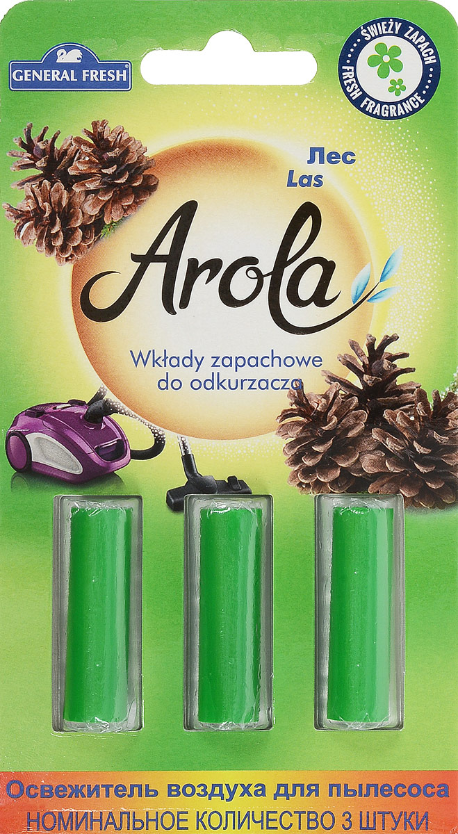 Освежитель воздуха General Fresh Air Fresh. Лес, для пылесоса, 3 шт391602Освежитель воздуха General Fresh Air Fresh. Лес, выполненный в виде 3 пропитанных капсул нейтрализует неприятные запахи, оставляя в доме приятный аромат. Такие капсулы имеют длительное действие и освежают воздух до момента очистки или замены пыле сборного мешка. Уважаемые клиенты!Обращаем ваше внимание на возможные изменения в дизайне упаковки. Качественные характеристики товара остаются неизменными. Поставка осуществляется в зависимости от наличия на складе.В комплекте : 3 капсулы.Длина капсулы: 3,5 см.