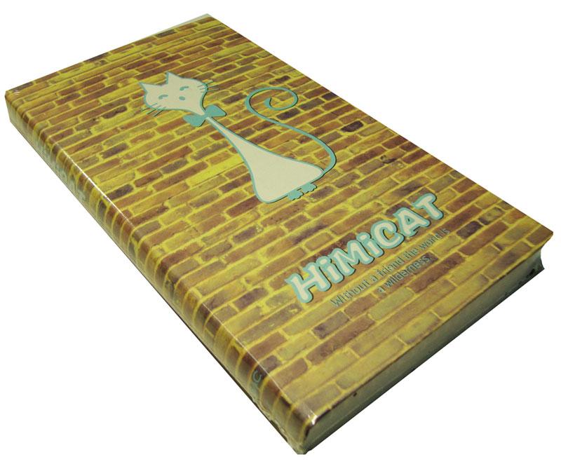 Карамба Блокнот Рисованная голубая кошка на кирпичной стене 96 листов в линейку72523WDБлокнот с нарисованной кошкой на кирпичной стене. Срез также имитирует кирпичную кладку.