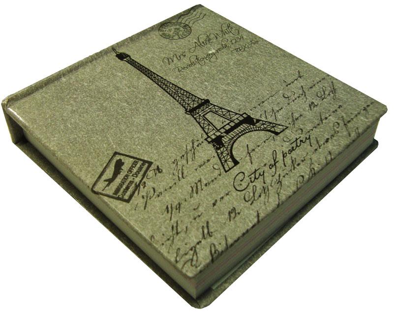 Карамба Блокнот Эйфелева башня 95 листов цвет серый72523WDБлокнотик с нелинованными листами с принтом в виде Эйфелевой башни