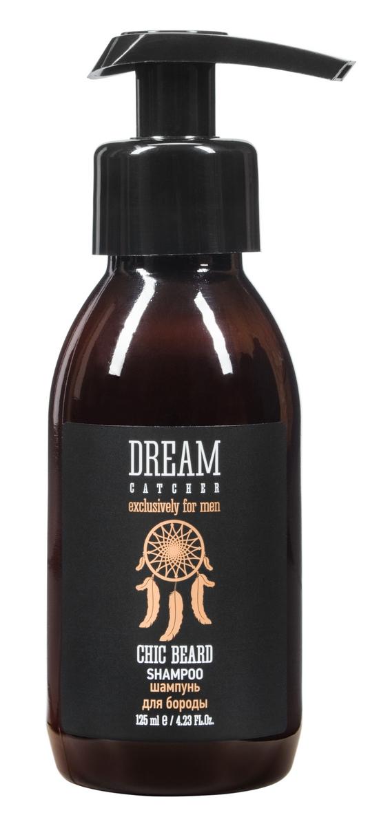 Dream Catcher Шампунь для бороды Chick beard shampoo, 125 мл0003938Шампунь специально разработан для ухода за бородой и кожей лица.Содержит провитамин В5, который эффективно увлажняет и питает кожу и волосы. Экстракт ромашки обладает антисептическим действием. Инулин является природным кондиционером, усиливает действие активных компонентов, дарит приятные ощущения.