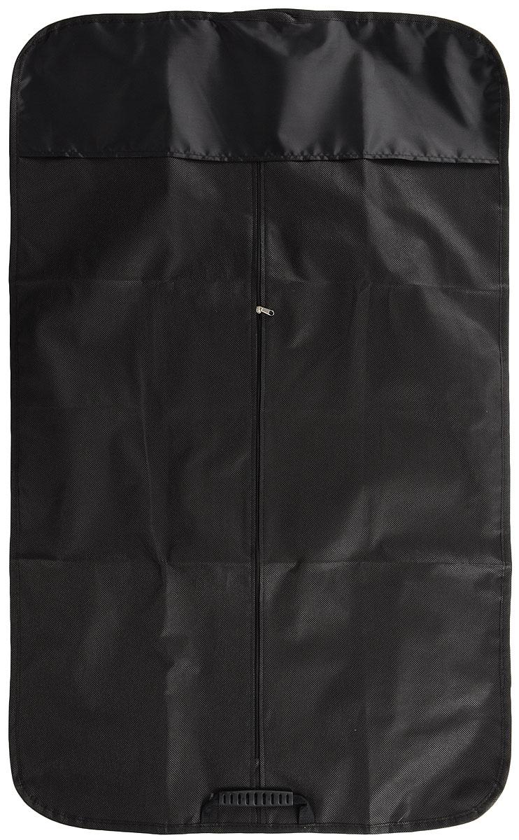 Чехол-сумка для одежды Eva, дорожный, 100 х 65 смЛ06_черныйЧехол-сумка для одежды Eva изготовлен из 100% полипропилена. Изделие оснащено специальной ручкой для комфортного переноса. Также снабжен молнией, которая защищает одежду от моли, пыли и света, отталкивает влагу и пропускает воздух.Такой компактный дорожный чехол станет незаменимой вещью в командировке, бизнес-поездке и в салоне вашего автомобиля.Размер чехла-сумки: 100 х 65 см.
