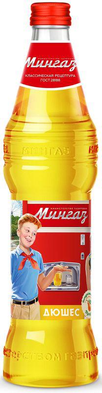 Мингаз Дюшес напиток, 0,5 л1655100% натуральный лимонад. Без консервантов. Оригинальный дизайн, красиво обыгрывающий истории из жизни в советском прошлом.