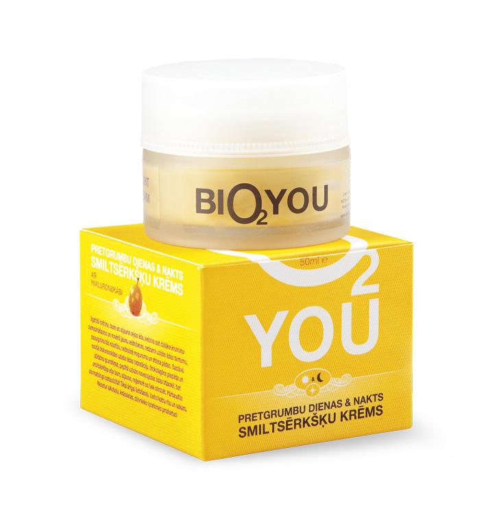 BIO2You Yellow range Омолаживающий дневной и ночной облепиховый крем, 50 мл960046Облепиховый питательный дневной и ночной крем от морщин с гиалуроновой кислотой. Интенсивно увлажняет, питает и восстанавливает кожу, Заметно улучшает контуры лица, придает упругость коже.