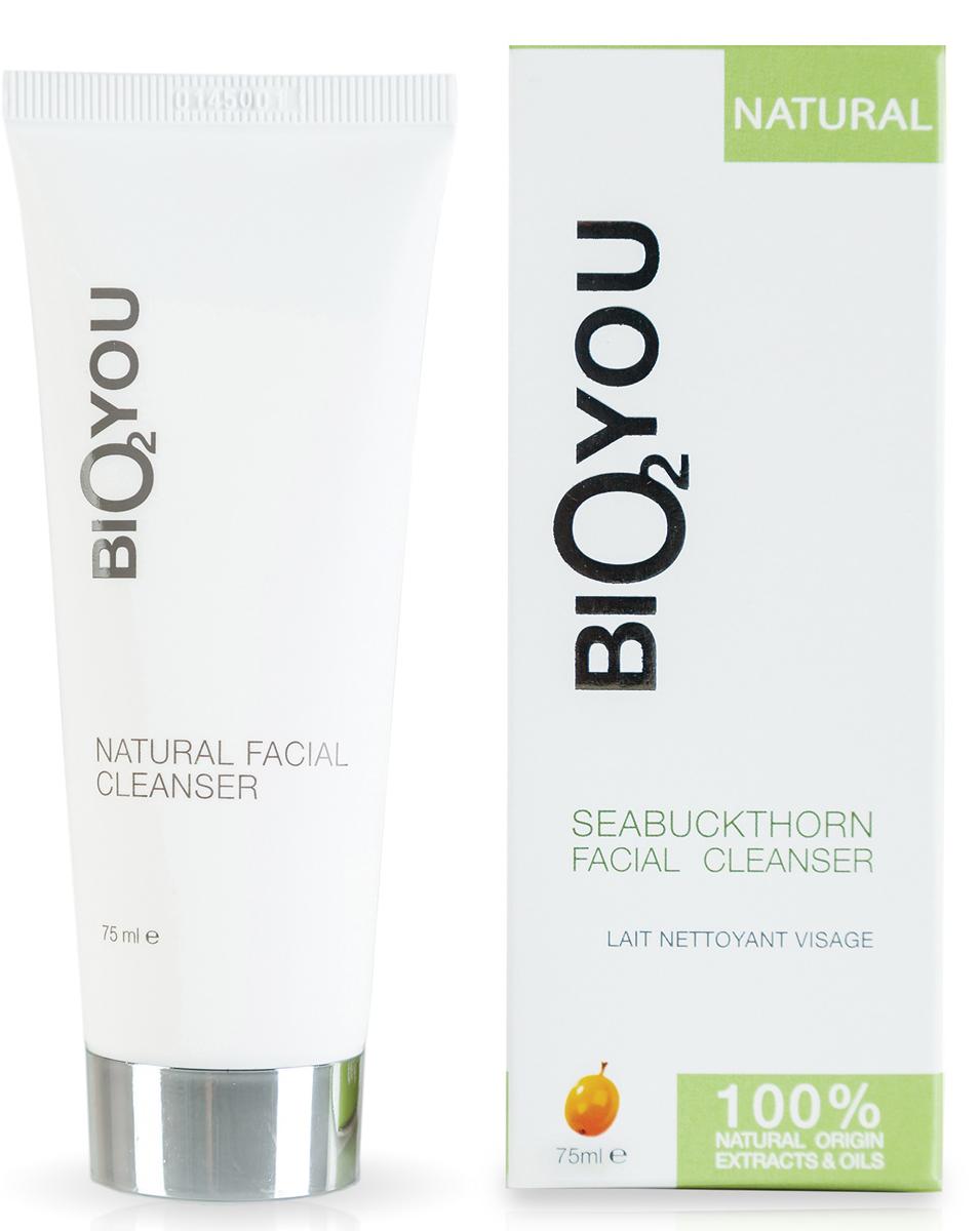 BIO2You Natural Skin Car Натуральное средство для очищения лица с облепихой, 75 мл116064Очищает кожу от загрязнений, грима и отмерших клеток, стимулируя образование новых клеток кожи. Обладает приятным смягчающим эффектом и противовоспалительными свойствами. Полезно для тонизирования жирной кожи лица. Увлажняет и придает длительное приятное ощущение, делая кожу мягкой и упругой.