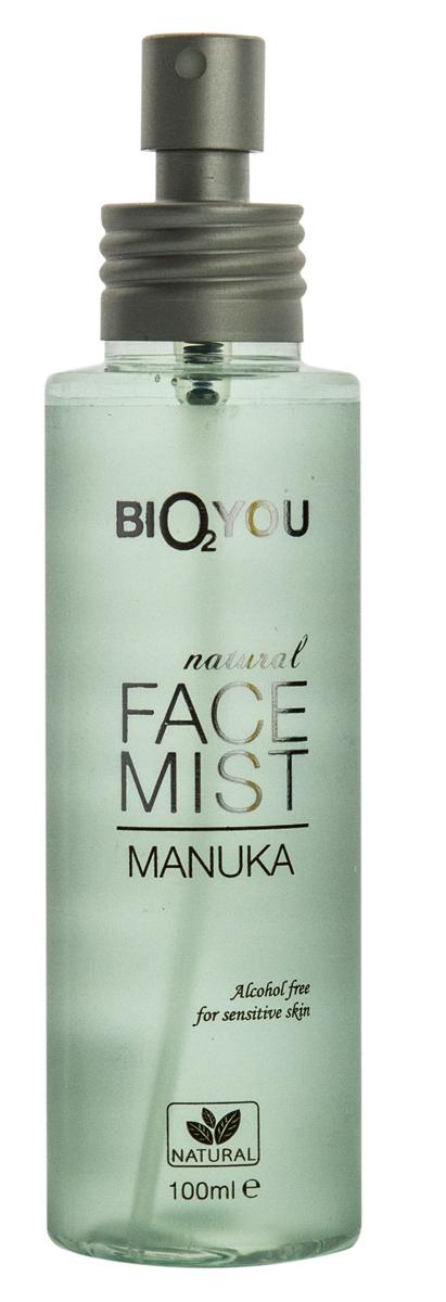BIO2You Natural Skin Car Натуральный мист для лица Manuka, 100 мл961845Слегка душистый, успокаивающий освежитель лица обогащенный зеленым чаем и экстрактом облепихи. Не содержит спирта и идеально подходит для чувствительной кожи.