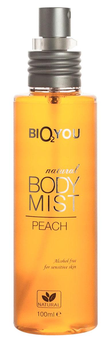 BIO2You Спрей для тела Персик, 100 млAC-1121RDЭтот экзотический поцелуй нектарa Персикa наполнит вас положительными эмоциями. Hе содержит спирта, и идеально подходит для использования на чувствительной коже.