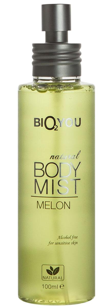 BIO2You Спрей для тела Дыня, 100 млFS-00897Натуральнaя туалетная вода для тела Дыня Свежий аромат наполнит вас положительными эмоциями. Hе содержит спирта, и идеально подходит для использования на чувствительной коже.