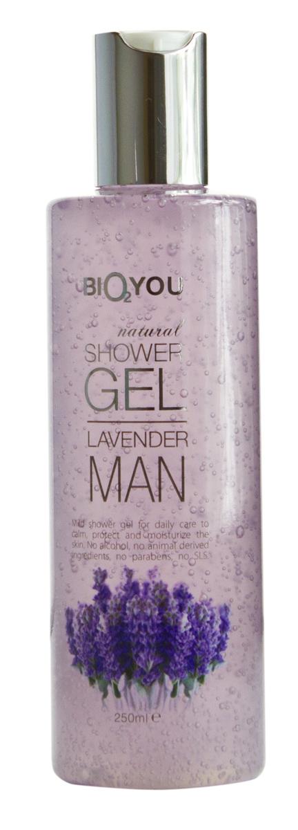 BIO2You Гель для душа Лаванда для мужчин, 250 мл961975Нежный гель для душа для ежедневного использования, успокаиваeт и увлажняeт кожу. Не содержит спиртa, продукты животного происхождения, парабены и SLS.