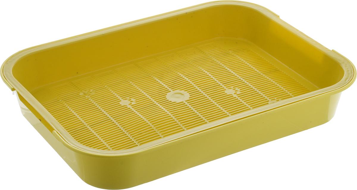 Туалет для кошек Каскад, с сеткой, цвет: желтый, 38 х 28 х 6 см9307034_желтыйТуалет для кошек Каскад изготовлен из высококачественного цветного пластика со съемной сеткой. Туалет с сеткой может использоваться как с наполнителем, так и без него. Это самый экономичный и простой в употреблении предмет обихода для кошек и котов.Туалет легко моется водой.