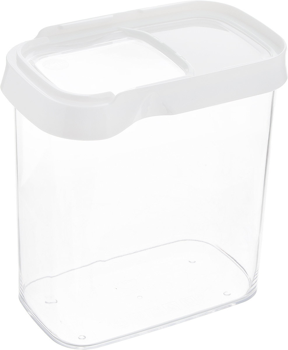Контейнер для сыпучих продуктов Emsa Optima, 1,6 л. 514551VT-1520(SR)Контейнер Emsa Optima выполнен из прочного пищевого пластика без содержания BPA. Прозрачные стенки позволяют видеть количество содержимого. Изделие имеет плотно закрывающуюся крышку с прозрачным окошком, которая открывается движением в сторону. Изделие не накапливает запахов, легко моется, практично в использовании. Идеально подходит для хранения различных сыпучих продуктов: круп, чая, кофе, сахара, сухофруктов, орехов. Можно мыть в посудомоечной машине.