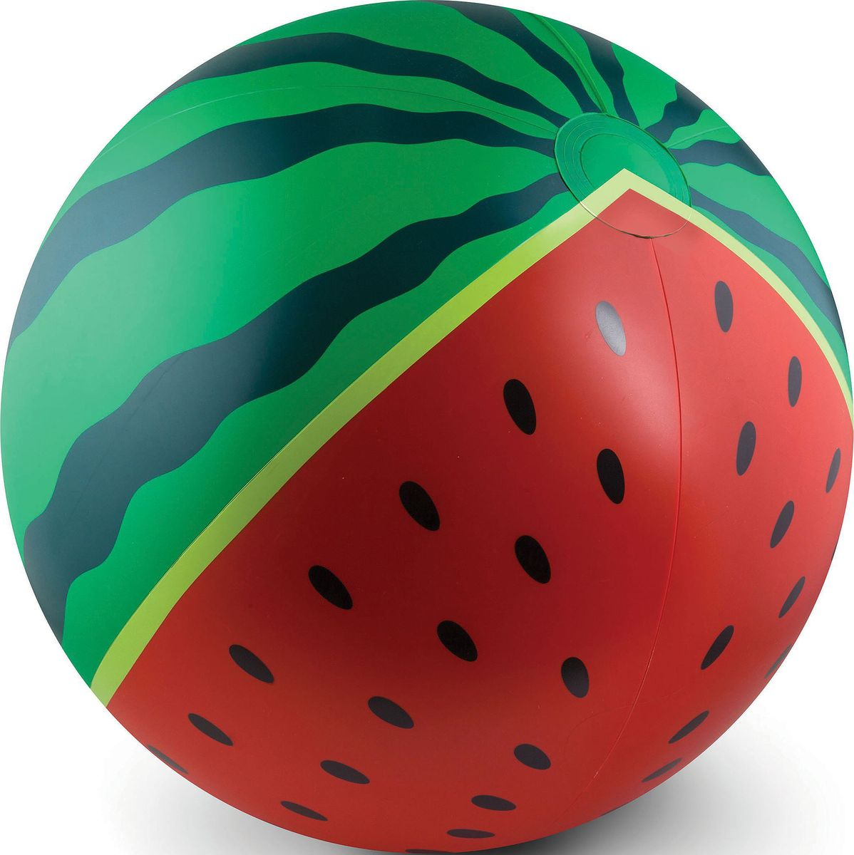 Мяч надувной BigMouth Watermelon, 46 смBM1518С надувными мячами Big Mouth вы сможете снова окунуться в атмосферу беззаботного детства. Это яркие и незаурядные изделия для детей и взрослых, которые станут достойным украшением любой пляжной вечеринки. Порадуйте себя, своих родных и друзей, устроив веселые игры на свежем воздухе: у бассейна, речки, на пруду или на берегу моря. Это прекрасная возможность разнообразить летний отдых, активно провести время и подарить своим близким незабываемые эмоции. Изделия выполнены из особо прочного винила, за счет чего обладают повышенной прочностью и износостойкостью. Благодаря улучшенной технике печати они отлично переносят длительное воздействие ультрафиолета, не теряя яркость цветов. При производстве компания уделяет пристальное внимание качеству и безопасности плавательных аксессуаров, поэтому каждый продукт проходит тщательные проверки и испытания на прочность.