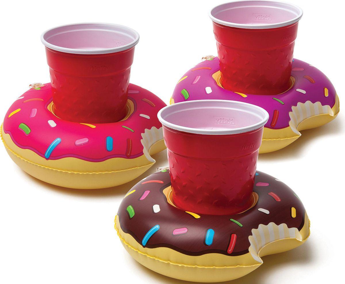 Набор подстаканников для бассейна BigMouth  Donut , 3 шт - Игры на открытом воздухе