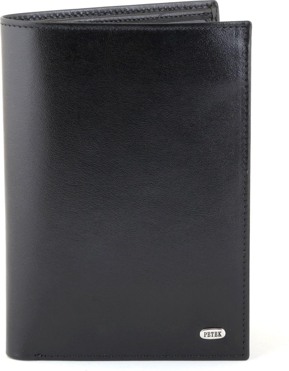 Портмоне Petek 1855, цвет: черный. 305.000.01BM8434-58AEНатуральная кожа, гладкая, без кнопки, Вертикальное, С отделением для монет / С отделением на молнии / С отделением для кредиток