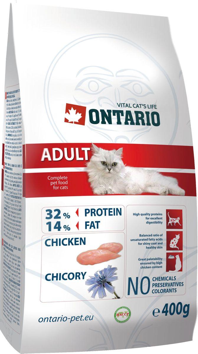 Корм сухой Ontario Adult для взрослых кошек, с курицей, 400 г21285Полнорационный сухой корм для кошек Ontario Adult изготовлен из высококачественных ингредиентов на основе 100% куриного мяса в собственном соку. Технология производства корма позволяет сохранить все витамины и полезные вещества. Высокое содержание мяса гарантирует получение животным необходимого количества питательных веществ и обеспечивает высокое содержание белка в корме. Пивные дрожжи содержат витамины группы В и ферменты, способствуют росту полезных бактерий в кишечнике, улучшают состояние кожи и шерсти животных.Лососевый жир богат незаменимыми жирными кислотами Омега-3, оказывающими благотворное влияние на все органы и системы организма, особенно на шерсть животных. Употребление незаменимых жирных кислот также способствует профилактике заболеваний сердца. Яблоки богаты клетчаткой (пектином), способствующей пищеварению и выводящей токсины из кишечника, а также являются источником витаминов и антиоксидантов.Состав: курица и ее производные (минимум 32%), маис, рис, гидролизованный белок домашней птицы, жир домашней птицы, сушеные яблоки, пивные дрожжи, гидролизованная печень домашней птицы, лососевый жир.Гарантированный анализ: белок 32%, жир 14%, влага 10%, зола 6,9%, клетчатка 2,3%, кальций 1,5%, фосфор 1,1%, натрий 0,2%, магний 0,09%.Добавки: витамин A 20,000 IU, витамин D3 2,000 IU, витамин E (альфа-токоферол) 500 мг, таурин 1,400 мг, E4 медь 21 мг, E6 цинк 10.5 мг, E8 селен 0.3 мг. Товар сертифицирован.