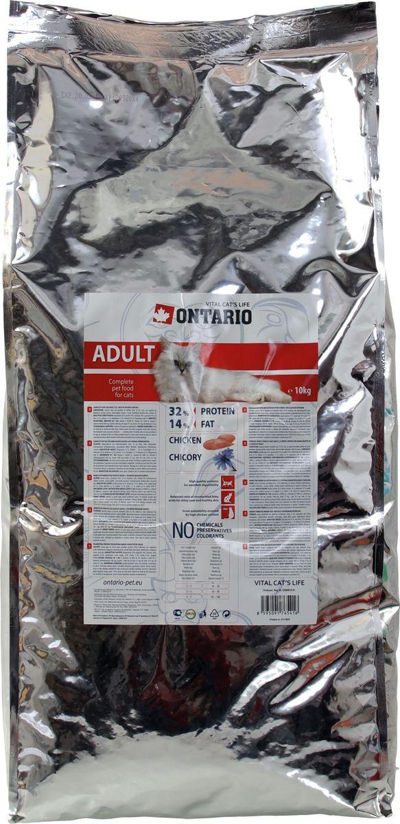 Корм сухой Ontario Adult, для взрослых кошек, с курицей, 10 кг0120710Полнорационный корм для кошек изготовлен из высококачественных ингредиентов на основе 100% куриного мяса в собственном соку. Технология производства корма позволяет сохранить все витамины и полезные вещества. Высокое содержание мяса гарантирует получение животным необходимого количества питательных веществ и обеспечивает высокое содержание белка в корме. Пивные дрожжи содержат витамины группы В и ферменты, способствует росту полезных бактерий в кишечнике. Дрожжи улучшают состояние кожи и шерсти животных.Лососевый жир богат незаменимыми жирными кислотами Омега 3, оказывающими благотворное влияние на все органы и системы организма, особенно на шерсть животных. Употребление незаменимых жирных кислот также способствует профилактике заболеваний сердца. Яблоки богаты клетчаткой (пектином), способствующей пищеварению и выводящей токсины из кишечника, а также являются источником витаминов и антиоксидантов.Кроме того использование отборного мяса делает этот корм невероятно вкусным, так что мы гарантируем, что он обязательно понравиться даже самой привередливой кошке!Состав: курица и ее производные (мин. 32 %), маис, рис, гидролизованный белок домашней птицы, жир домашней птицы, сушеные яблоки, пивные дрожжи, гидролизованная печень домашней птицы, лососевый жир.Гарантированный анализ: белок 32 %, жир 14 %, влага 10 %, зола 6,9 %, клетчатка 2,3 %, кальций 1,5 %, фосфор 1,1 %, натрий 0,2 %, магний 0,09 %.Добавки: витамин A 20,000 IU, витамин D3 2,000 IU, витамин E (альфатокоферол) 500 мг, таурин 1,400 мг, E4 медь 21 мг, E6 цинк 10.5 мг, E8 селен 0.3 мг.
