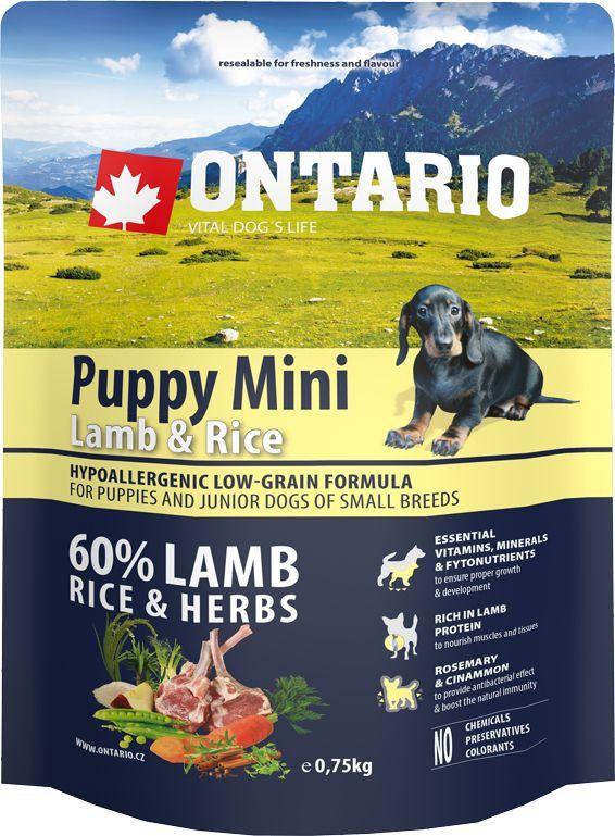 Корм сухой Ontario Puppy Mini, для щенков малых пород, с ягненком и рисом, 750 г0120710Гипоаллергенная формула с низким содержанием зерновых для щенков и молодых собак мелких пород (1-12 месяцев). Полнорационный корм для собак.Сбалансированный состав для здорового функционирования и развития всего организма. Корм содержит широкий набор витаминов и минералов, способствующих здоровому росту и развитию щенков. Высокое содержание белка из мяса ягненка имеет важное значение для правильного формирования мышечной ткани. Пивные дрожжи содержат витамины группы В и ферменты, способствуют росту полезных бактерий в кишечнике. Дрожжи улучшают состояние кожи и шерсти животных.Лососевый жир богат незаменимыми жирными кислотами Омега 3, оказывающими благотворное влияние на все органы и системы организма, особенно на шерсть животных. Омега 3 и Омега 6 жирные кислоты являются важными компонентами для поддержки функций сердца. Яблоки богаты клетчаткой (пектином), способствующей пищеварению и выводящей токсины из кишечника, а также являются источником витаминов и антиоксидантов.Специальный микс трав и специй, особенно корица и розмарин, помогают иммунной системе и обеспечивают антибактериальный эффект.Маннанолигосахариды естественным образом поддерживают работу кишечника и улучшают общее состояние здоровья животных.Рекомендации по кормлению: Давать ком сухим или слегка увлажненным. Всегда обеспечивайте собаке доступ к свежей воде. Количество корма, ежедневно необходимое собаке, зависит от окружающих условий, размера, возраста и уровня активности. Рекомендуемая дневная норма приведена в таблице. Для поддержания надлежащего состояния, следите, чтобы ваша собака была физически активна и не перекармливайте.Состав: дегидрированный ягненок (27%), рис (20%), груша, куриный жир, рисовые отруби (8%), индейка (5%), сушеные яблоки, пивные дрожжи, рыбий жир, сушеная морковь, маннанолигосахариды (210 мг/кг), фруктоолигосахариды(140 мг/кг), смесь морских водорослей, фенхель, тимьян, корица, анис, гв