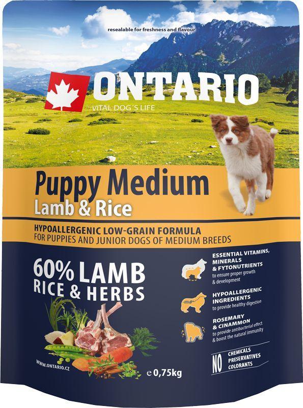 Корм сухой Ontario Puppy Medium для щенков средних пород, с ягненком и рисом, 750 г46597Полнорационный сухой корм Ontario Puppy Medium имеет гипоаллергенную формулу с низким содержанием зерновых. Предназначен для щенков и молодых собак средних пород (1-12 месяцев).Сбалансированный состав для здорового функционирования и развития всего организма. Корм содержит широкий набор витаминов и минералов, способствующих здоровому росту и развитию щенков. Высокое содержание белка из мяса ягненка имеет важное значение для правильного формирования мышечной ткани. Пивные дрожжи содержат витамины группы В и ферменты, способствуют росту полезных бактерий в кишечнике, улучшают состояние кожи и шерсти животных.Лососевый жир богат незаменимыми жирными кислотами Омега-3, оказывающими благотворное влияние на все органы и системы организма, особенно на шерсть животных. Омега-3 и Омега-6 жирные кислоты являются важными компонентами для поддержки функций сердца. Яблоки богаты клетчаткой (пектином), способствующей пищеварению и выводящей токсины из кишечника, а также являются источником витаминов и антиоксидантов.Специальная смесь трав и специй, особенно аниса, гвоздики и морских водорослей, способствует поддержанию гигиены полости рта и здоровья зубов.Маннанолигосахариды естественным образом поддерживают работу кишечника и улучшают общее состояние здоровья животных.Состав: дегидрированный ягненок (25%), рис (20%), груша, рисовые отруби (10%), куриный жир, индейка (5%), сушеные яблоки, пивные дрожжи, рыбий жир, сушеная морковь, маннанолигосахариды (210 мг/кг), фруктоолигосахариды(140 мг/кг), смесь морских водорослей, фенхель, тимьян, корица, анис, гвоздика, розмарин и юкка (140 мг/кг). Гарантированный анализ: белок 30%, жир 17%, влага 10%, зола 7%, клетчатка 2,5%, кальций 1,6%, фосфор 1,2%, натрий 0,1%, магний 0,08%.Добавки: витамин A (E672) 20 000 IU, витамин D3 (E671) 1 800 IU, витамин E (альфа-токоферол) (3a700) 500 мг, витамин B1 1,2 мг, витамин B2 4,5 мг, витамин B6 (3a831) 1,2 мг, вит