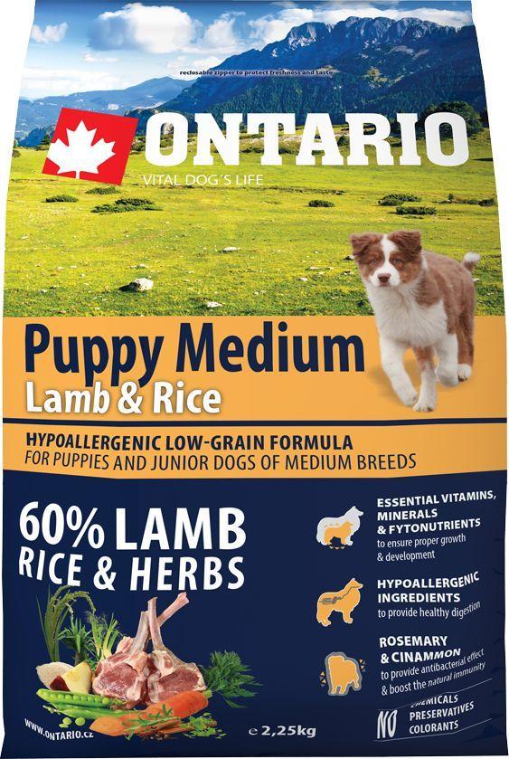 Корм сухой Ontario Puppy Medium, для щенков, с ягненком и рисом, 2,25 кг0120710Гипоаллергенная формула с низким содержанием зерновых для щенков и молодых собак средних пород (1-12 месяцев). Полнорационный корм для собак.Сбалансированный состав для здорового функционирования и развития всего организма. Корм содержит широкий набор витаминов и минералов, способствующих здоровому росту и развитию щенков. Высокое содержание белка из мяса ягненка имеет важное значение для правильного формирования мышечной ткани. Пивные дрожжи содержат витамины группы В и ферменты, способствуют росту полезных бактерий в кишечнике. Дрожжи улучшают состояние кожи и шерсти животных.Лососевый жир богат незаменимыми жирными кислотами Омега 3, оказывающими благотворное влияние на все органы и системы организма, особенно на шерсть животных. Омега 3 и Омега 6 жирные кислоты являются важными компонентами для поддержки функций сердца. Яблоки богаты клетчаткой (пектином), способствующей пищеварению и выводящей токсины из кишечника, а также являются источником витаминов и антиоксидантов.Специальный микс трав и специй, особенно корица и розмарин, помогают иммунной системе и обеспечивают антибактериальный эффект.Маннанолигосахариды естественным образом поддерживают работу кишечника и улучшают общее состояние здоровья животных.Рекомендации по кормлению: Давать ком сухим или слегка увлажненным. Всегда обеспечивайте собаке доступ к свежей воде. Количество корма, ежедневно необходимое собаке, зависит от окружающих условий, размера, возраста и уровня активности. Рекомендуемая дневная норма приведена в таблице. Для поддержания надлежащего состояния, следите, чтобы ваша собака была физически активна и не перекармливайте.Состав: дегидрированный ягненок (25%), рис (20%), груша, рисовые отруби (10%), куриный жир, индейка (5%), сушеные яблоки, пивные дрожжи, рыбий жир, сушеная морковь, маннанолигосахариды (210 мг/кг), фруктоолигосахариды(140 мг/кг), смесь морских водорослей, фенхель, тимьян, корица, анис, гвоздика