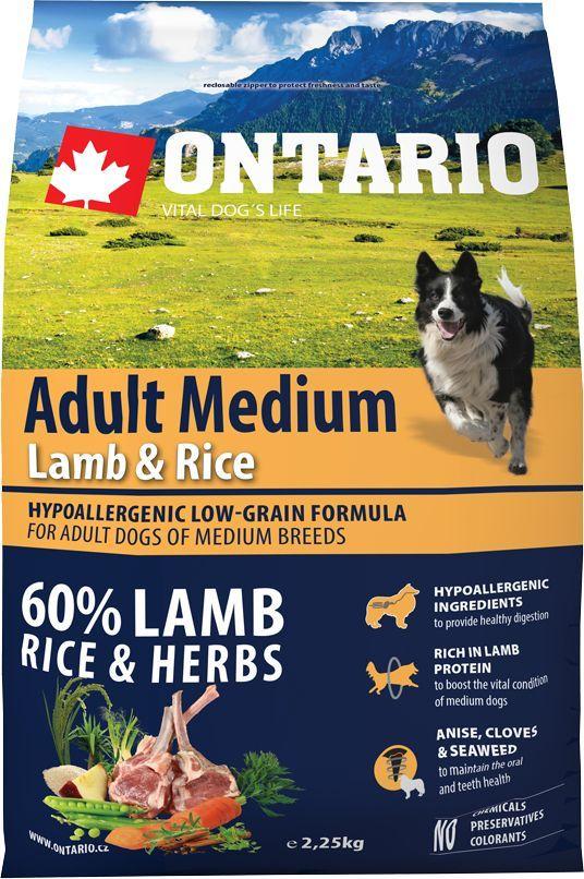 Корм сухой Ontario Adult Medium, для собак, с ягненком и рисом, 2,25 кг0120710Гипоаллергенная формула с низким содержанием зерновых для собак средних пород. Полнорационный корм для собак.Сбалансированный состав для здорового функционирования всего организма. Высокое содержание белка из мяса ягненка для поддержания здоровья и хорошего самочувствия собаки. Гипоаллергенные ингредиенты обеспечивают здоровое пищеварение. Пивные дрожжи содержат витамины группы В и ферменты, способствуют росту полезных бактерий в кишечнике. Дрожжи улучшают состояние кожи и шерсти животных.Лососевый жир богат незаменимыми жирными кислотами Омега 3, оказывающими благотворное влияние на все органы и системы организма, особенно на шерсть животных. Омега 3 и Омега 6 жирные кислоты являются важными компонентами для поддержки функций сердца. Яблоки богаты клетчаткой (пектином), способствующей пищеварению и выводящей токсины из кишечника, а также являются источником витаминов и антиоксидантов.Содержащийся в корме специальный микс т трав и специй, особенно аниса, гвоздики смеси морских водорослей способствует поддержанию гигиены полости рта и здоровья зубов.Маннанолигосахариды естественным образом поддерживают работу кишечника и улучшают общее состояние здоровья животных.Рекомендации по кормлению: Давать ком сухим или слегка увлажненным. Всегда обеспечивайте собаке доступ к свежей воде. Количество корма, ежедневно необходимое собаке, зависит от окружающих условий, размера, возраста и уровня активности. Рекомендуемая дневная норма приведена в таблице. Для поддержания надлежащего состояния, следите, чтобы ваша собака была физически активна и не перекармливайте.Состав: дегидрированный ягненок (22%), рис (21%), груша, рисовые отруби (10%), куриный жир, индейка (7%), сушеные яблоки, пивные дрожжи, рыбий жир, сушеная морковь, маннанолигосахариды (180 мг/кг), фруктоолигосахариды(120 мг/кг), смесь морских водорослей, фенхель, тимьян, корица, анис, гвоздика, розмарин и юкка (120 мг/кг).Гарантированный анали