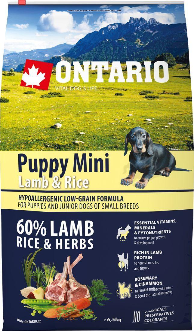 Корм сухой Ontario Puppy Mini для щенков мелких пород, с ягненком и рисом, 6,5 кг0120710Полнорационный сухой корм Ontario Puppy Mini имеет гипоаллергенную формулу с низким содержанием зерновых. Предназначен для щенков и молодых собак мелких пород (1-12 месяцев). Сбалансированный состав для здорового функционирования и развития всего организма. Корм содержит широкий набор витаминов и минералов, способствующих здоровому росту и развитию щенков. Высокое содержание белка из мяса ягненка имеет важное значение для правильного формирования мышечной ткани. Пивные дрожжи содержат витамины группы В и ферменты, способствующие росту полезных бактерий в кишечнике, улучшают состояние кожи и шерсти животных.Лососевый жир богат незаменимыми жирными кислотами Омега-3, оказывающими благотворное влияние на все органы и системы организма, особенно на шерсть животных. Омега-3 и Омега-6 жирные кислоты являются важными компонентами для поддержки функций сердца. Яблоки богаты клетчаткой (пектином), способствующей пищеварению и выводящей токсины из кишечника, а также являются источником витаминов и антиоксидантов.Специальная смесь трав и специй, особенно аниса, гвоздики и морских водорослей, способствует поддержанию гигиены полости рта и здоровья зубов.Маннанолигосахариды естественным образом поддерживают работу кишечника и улучшают общее состояние здоровья животных.Состав: дегидрированный ягненок (27%), рис (20%), груша, куриный жир, рисовые отруби (8%), индейка (5%), сушеные яблоки, пивные дрожжи, рыбий жир, сушеная морковь, маннанолигосахариды (210 мг/кг), фруктоолигосахариды(140 мг/кг), смесь морских водорослей, фенхель, тимьян, корица, анис, гвоздика, розмарин и юкка (140 мг/кг).Гарантированный анализ: белок 29%, жир 18%, влага 10%, зола 7,8%, клетчатка 3%, кальций 1,6%, фосфор 1,3%, натрий 0,3%, магний 0,08%.Добавки: витамин A (E672) 22 000 IU, витамин E (альфа-токоферол) (3a700) 600 мг, витамин B1 1,5 мг, витамин B2 5,5 мг, витамин B6 (3a831) 1,5 мг, витамин B12 0,06 мг, цинк (E6) 11