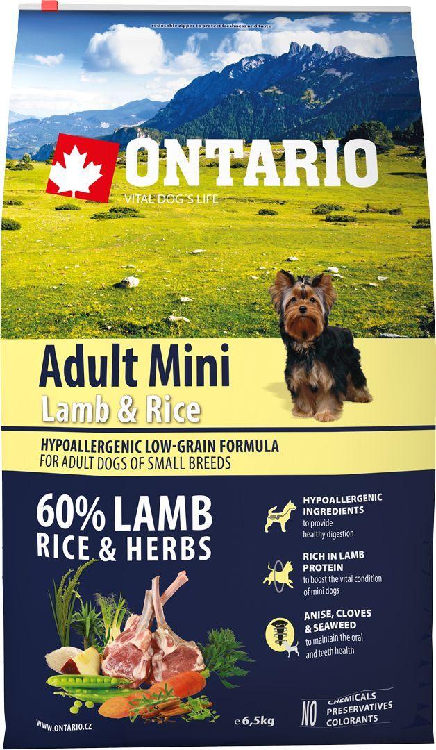Корм сухой Ontario Adult Mini для собак мелких пород, с ягненком и рисом, 6,5 кг0120710Полнорационный сухой корм Ontario Adult Mini имеет гипоаллергенную формулу с низким содержанием зерновых. Предназначен для взрослых собак малых пород.Сбалансированный состав для здорового функционирования всего организма. Высокое содержание белка из мяса ягненка для поддержания здоровья и хорошего самочувствия собаки. Гипоаллергенные ингредиенты обеспечивают здоровое пищеварение. Пивные дрожжи содержат витамины группы В и ферменты, способствуют росту полезных бактерий в кишечнике. Дрожжи улучшают состояние кожи и шерсти животных.Лососевый жир богат незаменимыми жирными кислотами Омега 3, оказывающими благотворное влияние на все органы и системы организма, особенно на шерсть животных. Омега 3 и Омега 6 жирные кислоты являются важными компонентами для поддержки функций сердца. Яблоки богаты клетчаткой (пектином), способствующей пищеварению и выводящей токсины из кишечника, а также являются источником витаминов и антиоксидантов.Содержащийся в корме специальный микс трав и специй, особенно аниса, гвоздики и морских водорослей, способствует поддержанию гигиены полости рта и здоровья зубов.Маннанолигосахариды естественным образом поддерживают работу кишечника и улучшают общее состояние здоровья животных.Состав: дегидрированный ягненок (27%), рис (20%), груша, рисовые отруби (13%), куриный жир, сушеные яблоки, пивные дрожжи, рыбий жир, сушеная морковь, маннанолигосахариды (180 мг/кг), фруктоолигосахариды(120 мг/кг), смесь морских водорослей, фенхель, тимьян, корица, анис, гвоздика, розмарин и юкка (120 мг/кг). Гарантированный анализ: белок 27,0%, жир 17,0%, влага 10,0%, зола 7,5%, клетчатка 3,0%, кальций 1,6%, фосфор 1,3%, натрий 0,4%, магний 0,06%.Добавки: витамин A (E672) 20 000 IU, витамин D3 (E671) 1 800 IU, витамин E (альфа-токоферол) (3a700) 500 мг, витамин B1 1,2 мг, витамин B2 4,5 мг, витамин B6 (3a831) 1,2 мг, витамин B12 0,05 мг, цинк (E6) 100 мг, железо (E1) 88 мг, марганец (E