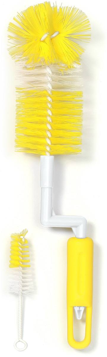 BabyOno Набор ершиков оборотный цвет желтый 2 шт