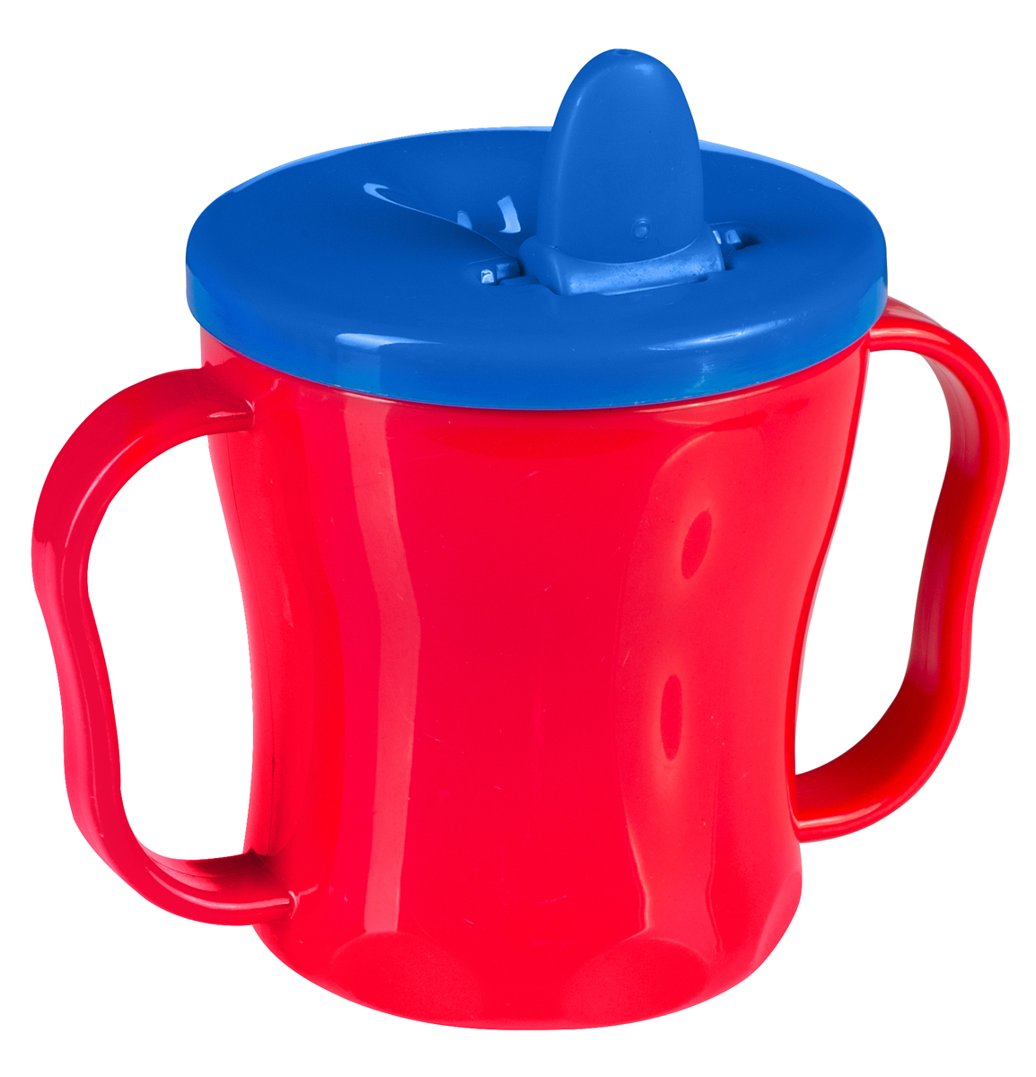 BabyOno Поильник-непроливайка от 6 месяцев цвет красный синий 180 мл