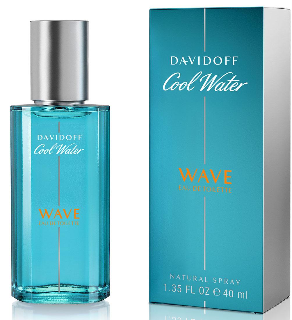 Davidoff Cool Water Wave Туалетная вода мужская 40 мл46997030000Цвет флакона и упаковки светлее классического Davidoff Cool Water, символизируя цвет волны, на которой сёрфер оставляет свой шлейф.