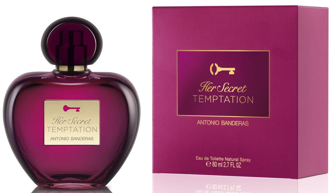 Antonio Banderas Her Secret Temptation Туалетная вода женская 80 мл4011700363001Яркий, соблазнительный и стойкий аромат, в котором сочетание цветочных нот усилено чувственным древесным аккордом.