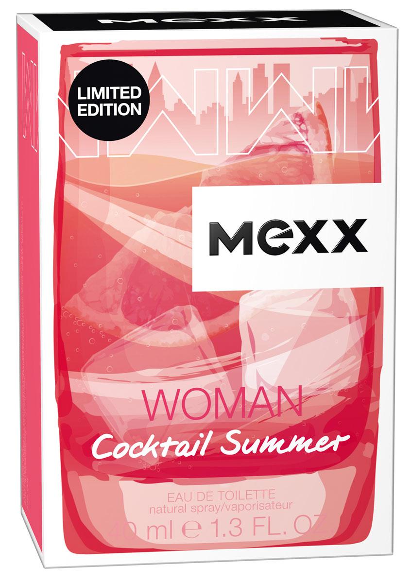 Mexx Cocktail Summer Woman Туалетная вода 40 мл8005610375137Лето – это не только путешествия в жаркие страны. Мы знаем, как наслаждаться летом, не выезжая из города: вечером после рабочего дня солнце еще ярко светит, и мы отдыхаем, потягивая прохладные коктейли. Лето 2017 будет коктейльным!
