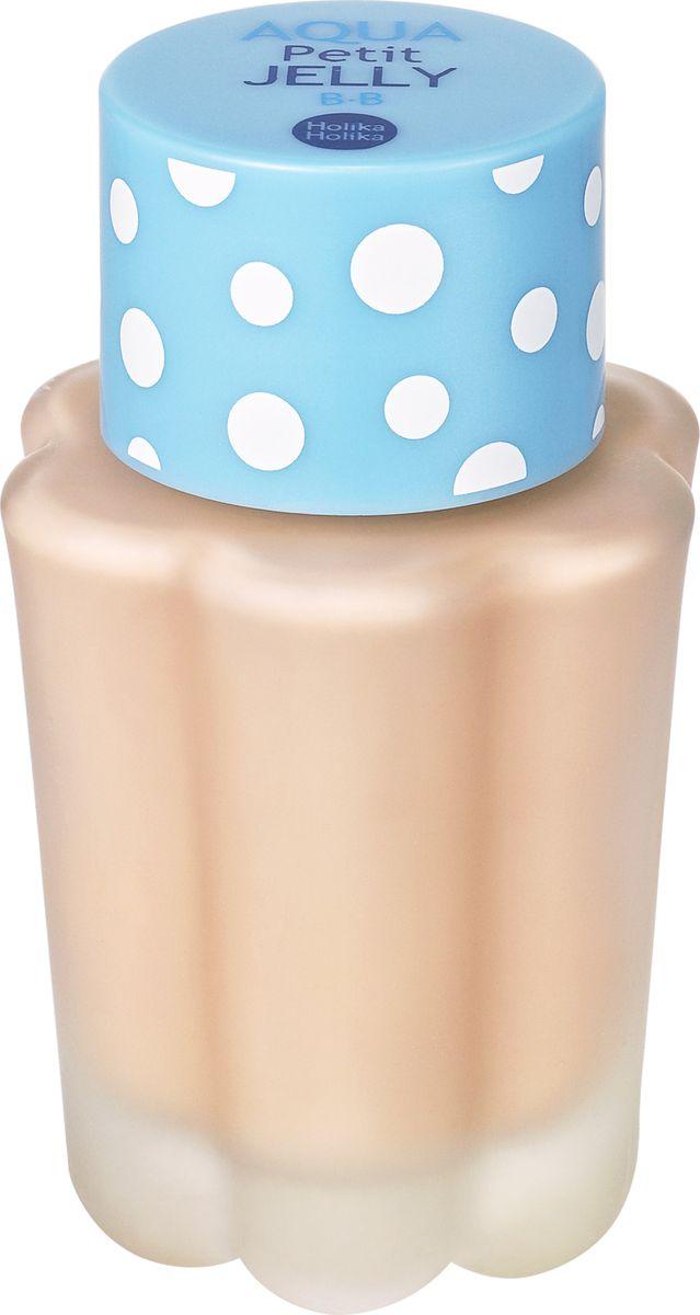 Holika Holika BB-крем Aqua Petit Jelly BB, тон 01, SPF20 PA++5060449182021BB-крем Holika Holika Aqua Petit Jelly BB - это ультра-легкий увлажняющий тональный крем, который приятно охлаждает кожу, выравнивает тон и обладает бархатистым финишем. ББ крем содержит экстракт водорослей, мяту и гиалуроновую кислоту. Средство контролирует работу сальных желез во избежание появления жирного блеска. Рекомендовано для обладателей комбинированного и жирного типов кожи, но также подойдет и для сухой кожи без выраженных шелушений.