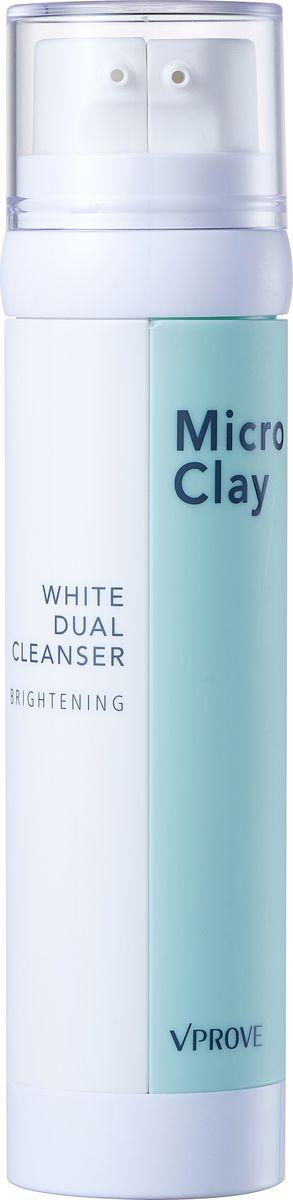 Vprove Двухфазная пенка Микро Клэй с маслом, осветляющая, 100 мл63245Линия разработана с учетом потребностей жирной и комбинированной кожи. Очищающие средства помогут очистить, успокоить и избавить от надоедливого жирного блеска даже самую чувствительную кожу. Линия базируется на основе натуральных ингредиентов без добавления красителей. В состав средств входит микс из белой глины (эффективно абсорбирует себум и смягчает кожу), розовой глины (снимает воспаления и выводит токсины) и черной глины (питает и очищает глубокие загрязнения). Также в состав средств входит бамбуковая и розовая вода, увлажняющая кожу, а экстракт черных бобов питает кожу и заряжает ее антиоксидантами, продлевая молодость и упругость дермы. Одним нажатием дозатора вы получаете уникальный микс из глины и масла, который расщепляет кожный себум и эффективно удаляет загрязнения, даря ощущение свежести. Пенка хорошо питает кожу и осветляет ее тон.