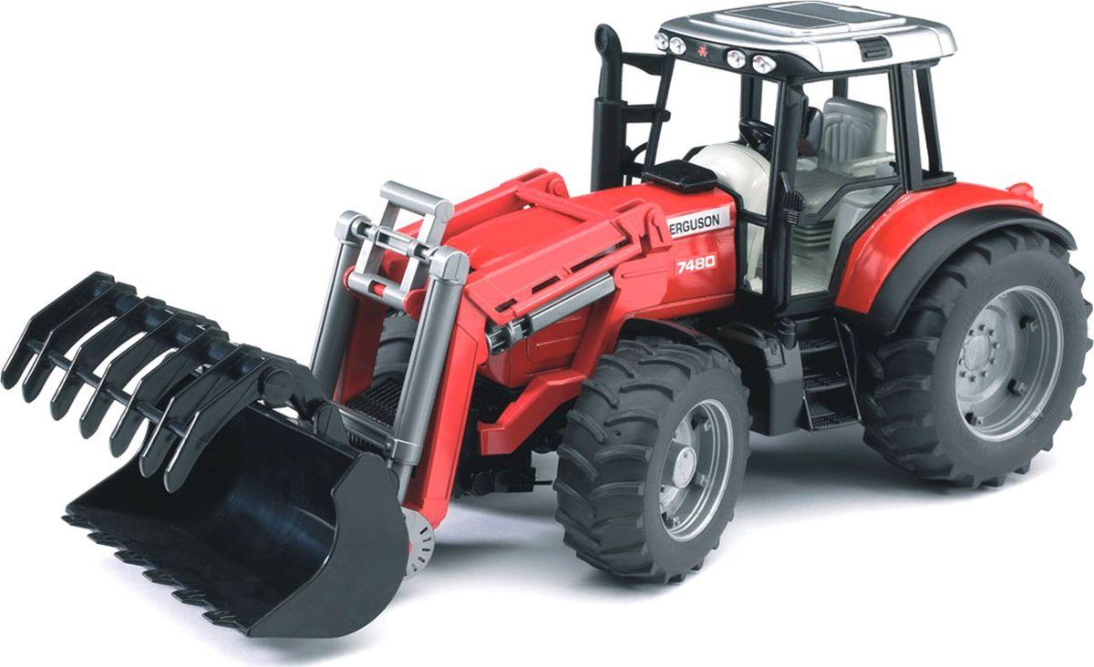 Bruder Трактор Massey Ferguson 7480 с погрузчиком игрушка bruder fendt favorit 926 vario трактор с погрузчиком 02 062