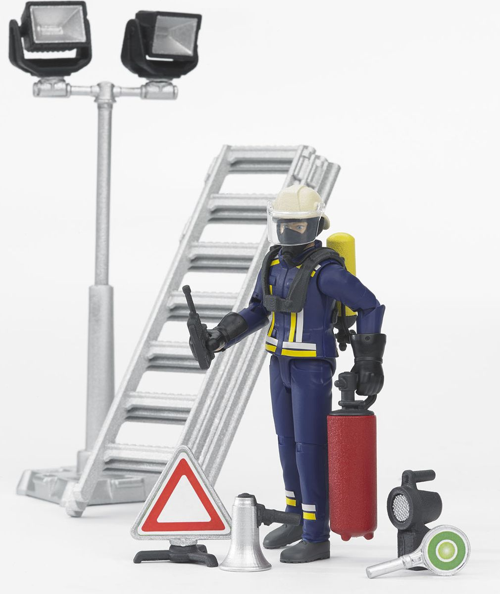 Bruder Фигурка пожарного с аксессуарами