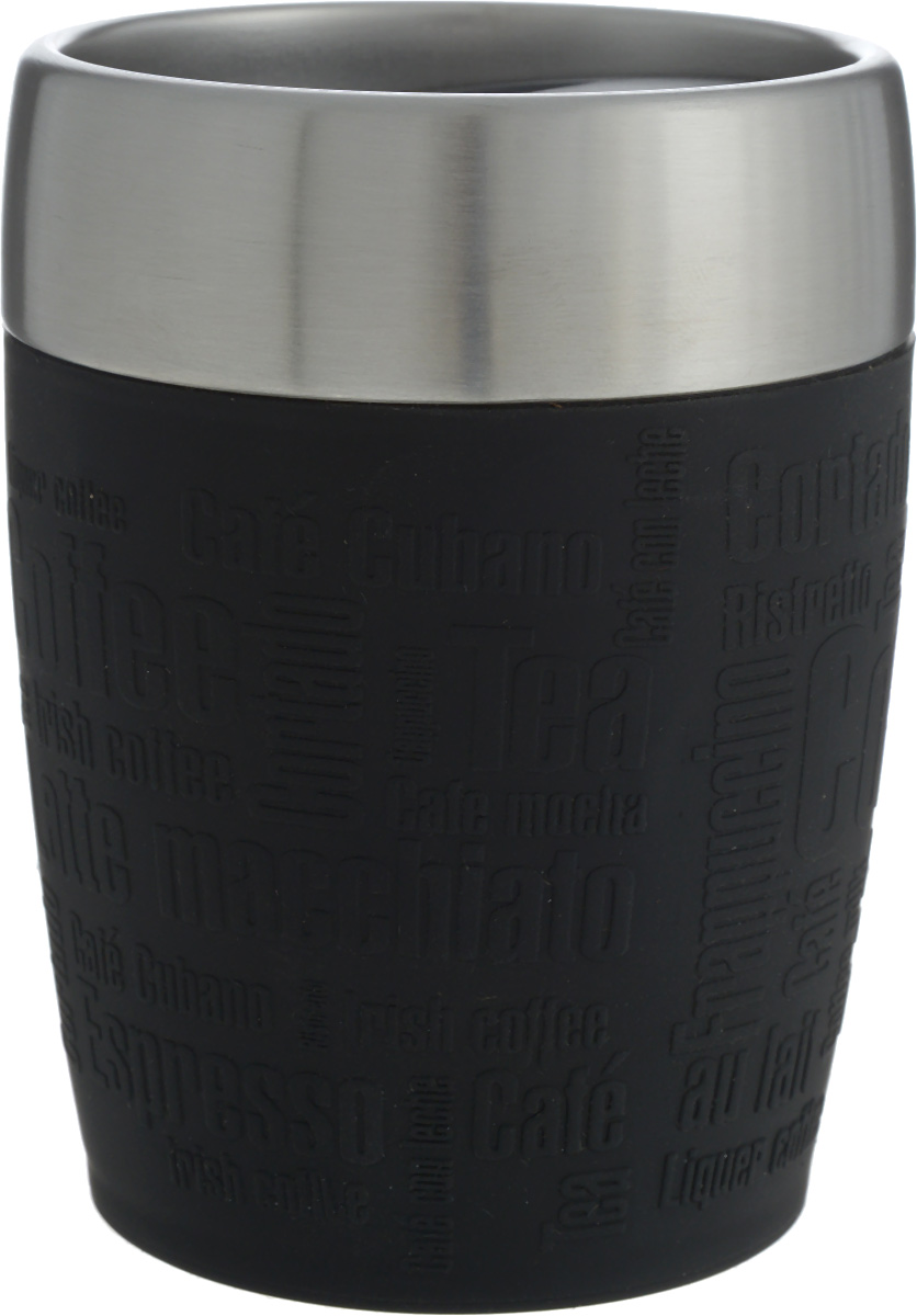 Термостакан Emsa, цвет: черный, стальной, 200 мл термостакан объектив цвет черный 95102