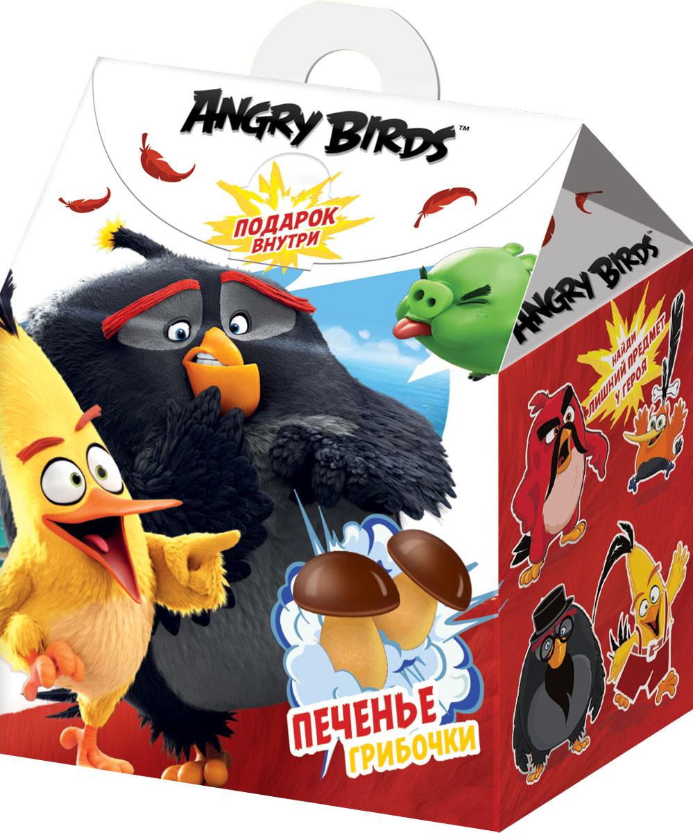 Angry Birds Movie печенье в коробочке с наклейкой, 42 г0120710Печенье в виде грибочков в пакетике + объемный стикер.