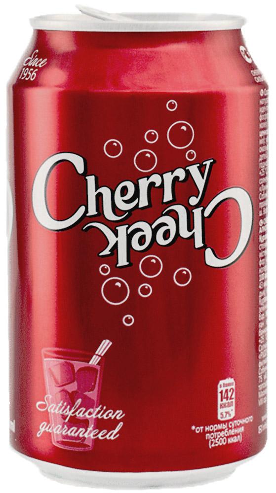 Черри Чик напиток газированный, 0,33 л0120710Продукт производится без консервантов на сахаре по оригинальной рецептуре. Обладает ярким вишневым вкусом с оттенками вишневой косточки.