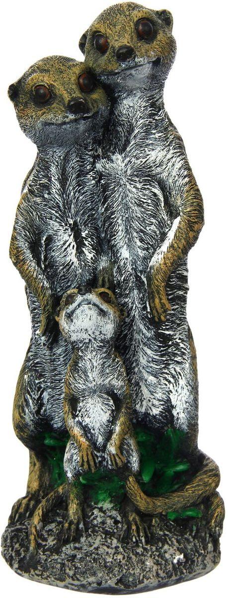 Фигура садовая Premium Gips Семейство сурикатов, 13 х 16 х 37 см1423173Садовая фигура Парочка сурикатов создает настроение на любимом дачном участке и придает неповторимость. Забавные зверушки подарят новые краски и разнообразят ландшафт. Гармоничнее всего фигурка смотрится в местах природного обитания животного. Разрабатывайте собственный дизайн и расставляйте акценты. Поставьте садовую фигуру рядом с клумбой. А расположенная прямо у калитки, она будет приятно удивлять гостей. Украшайте сад оригинально.