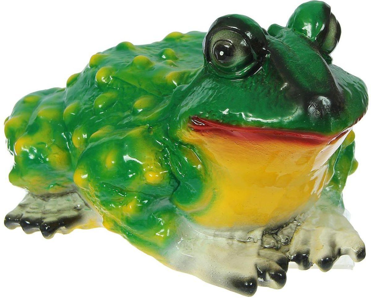 Фигура садовая Керамика ручной работы Удивленная жаба, 28 х 22 х 17 смK100 Летом практически каждая семья стремится проводить больше времени за городом. #name# — прекрасный выбор для комфортного отдыха и эффективного труда на даче, который будет радовать вас достойным качеством.