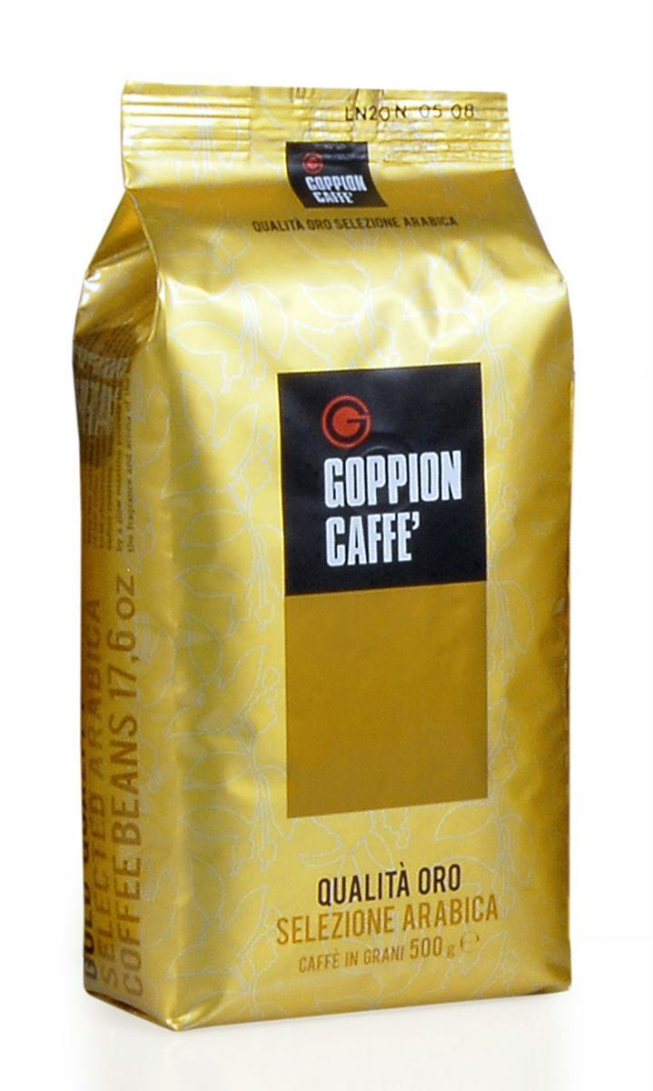 Goppion Caffe Qualita Oro кофе в зернах 1 кг9303Смесь 100% арабики из Бразилии и Центральной Америки. Богатый насыщенный вкус и аромат, с шоколадным послевкусием и густой крема. Утонченный сбалансированный вкус подчеркнут приятной фруктовой ноткой, типичной для Центральноамериканского кофе.