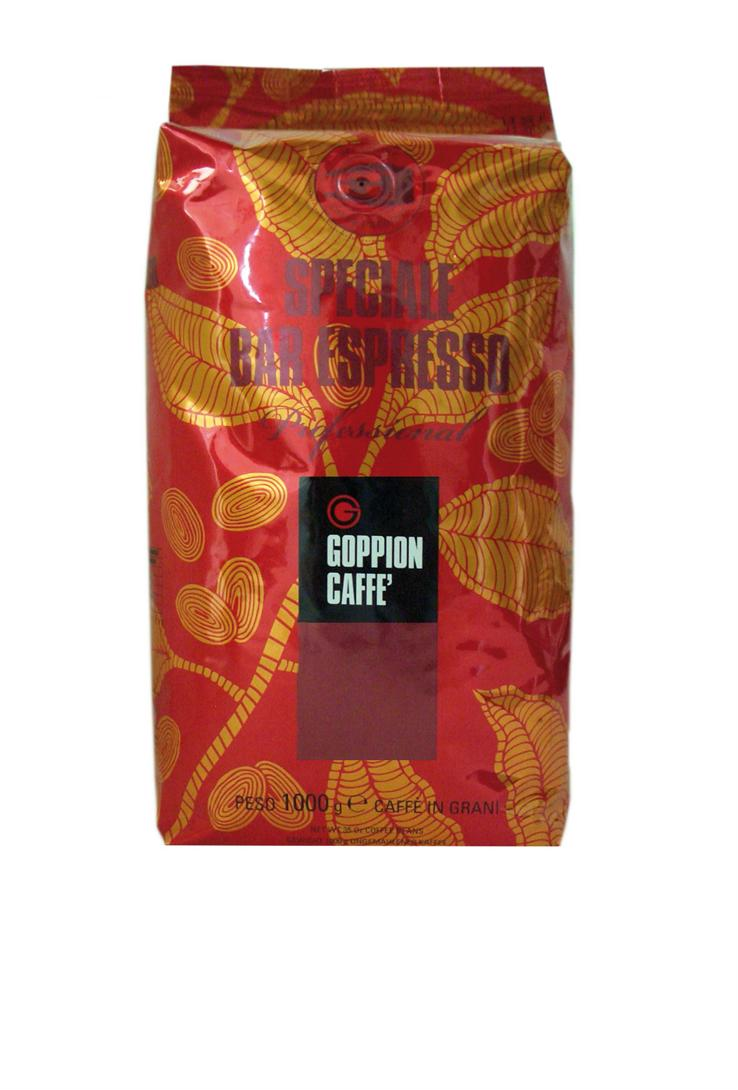 Goppion Caffe Speciale Bar Espresso кофе в зернах, 1 кг0120710Смесь зерен Арабики с добавлением отборной Робусты. Плотный и округлый вкус, мягкое и сбалансированное послевкусие. Среднее содержание кофеина. Идеален для завтрака, приготовления капучино и молочных напитков.